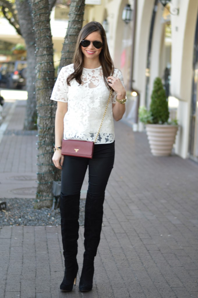Reiss white lace top