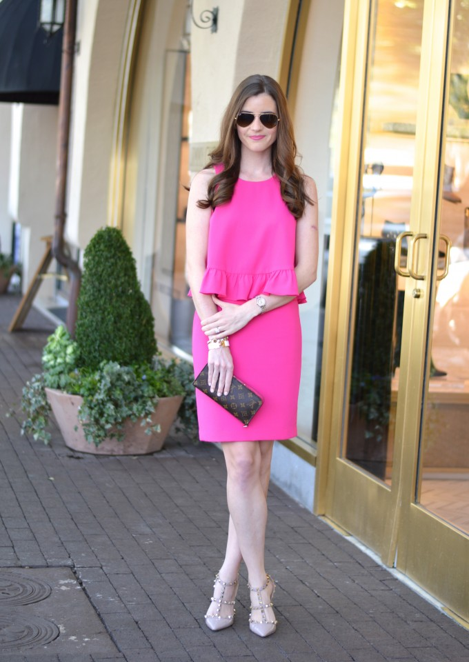 Trina Turk pink layered dress