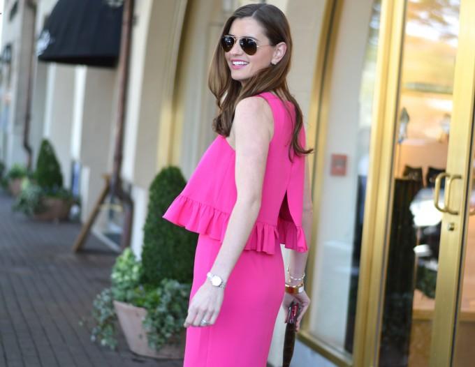 Trina Turk pink layered dress