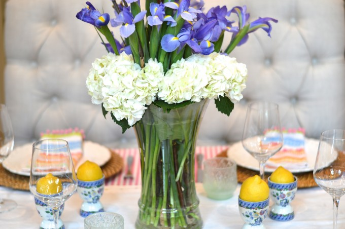 spring flower arrangement on a budget