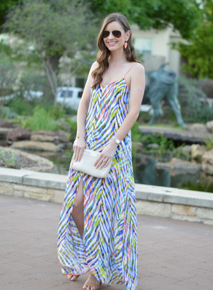 accessorizing a maxi dress