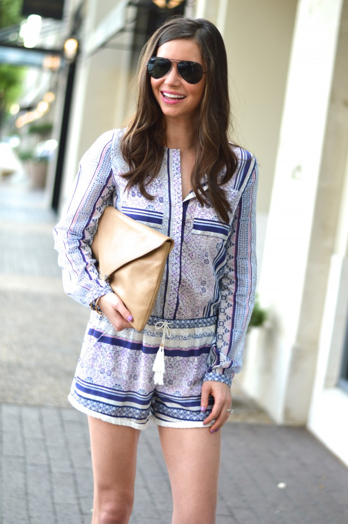how to style a boho romper