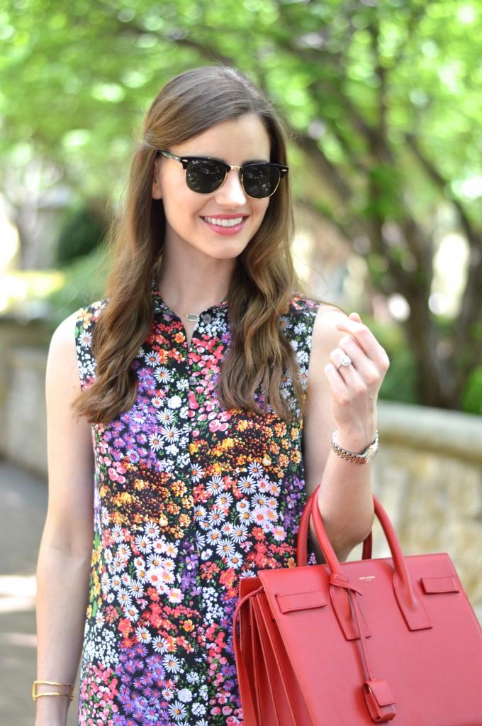 equipment floral shirt dress