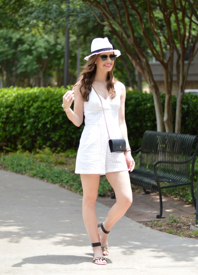 summer romper, eyelet, casual summer style