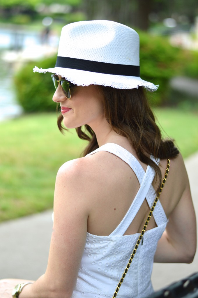 crisscross back, white romper, casual summer style, what to were to a pool party