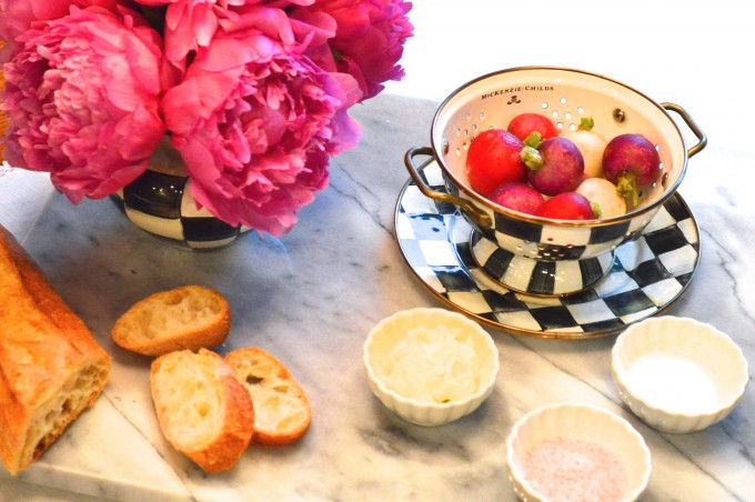 summer entertaining, easy appetizers, healthy appetizers, radishes
