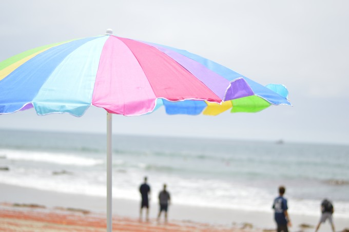 beach umbrella, beach vacation, Pacific Ocean