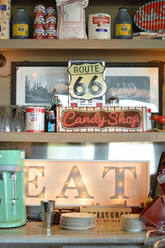 soda shoppe decor, old fashioned candy shop, four seasons scottsdale