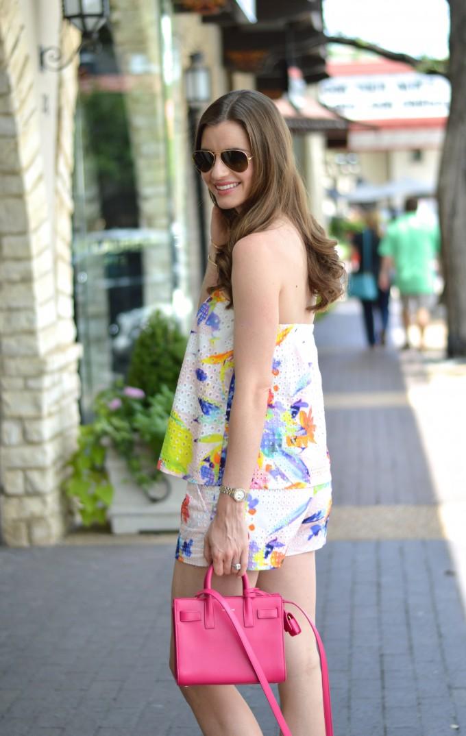 matching short sets, tropical summer print shorts and top, mini bags, mini cross body bag, beach waves