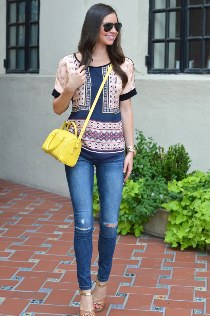 boho print top, scarf print top, tops under $50