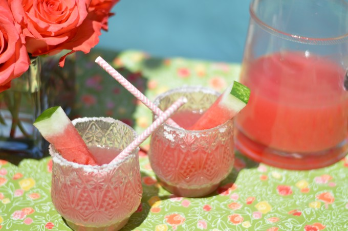 watermelon margaritas, summer entertaining