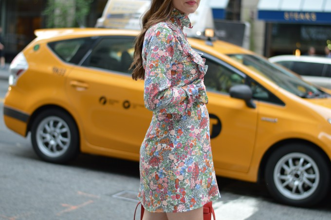 floral ruffle dress, pregnancy style, maternity style