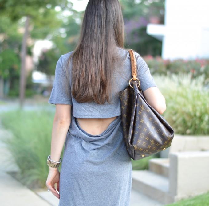 open back detail, open back maxi dress