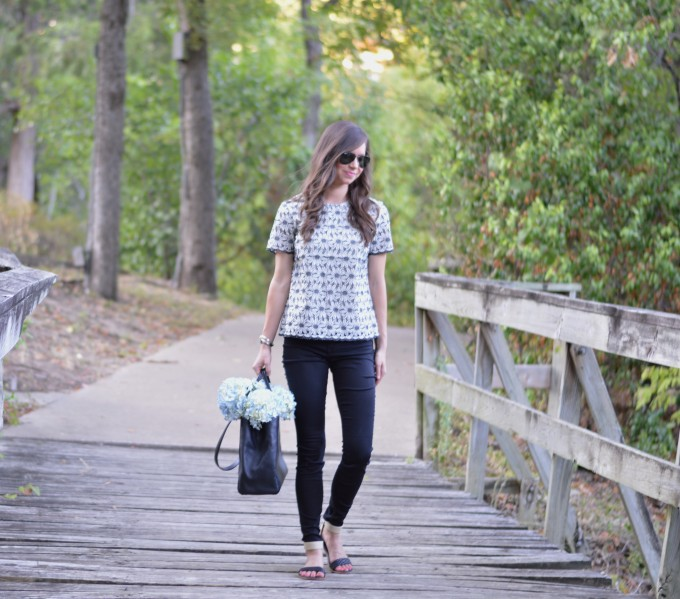 lace for fall, casual weekend wear, fall transitional style, winter white and black top