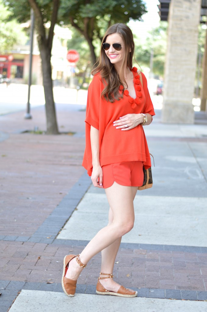 monochromatic look, matching separates, fall transitional style, red