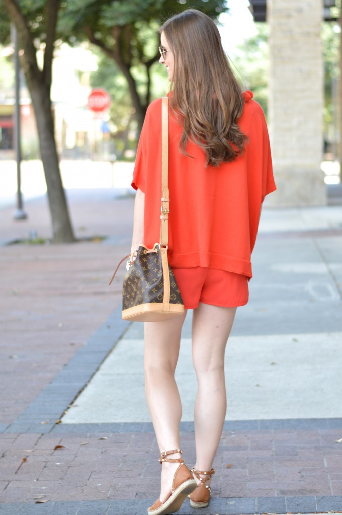 monochromatic look, transitional fall style, pom pom sweater