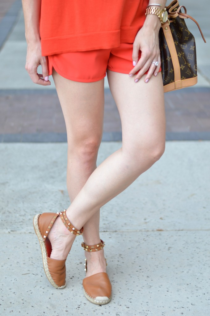monochromatic look, matching separates, fall style, Valentino espadrilles