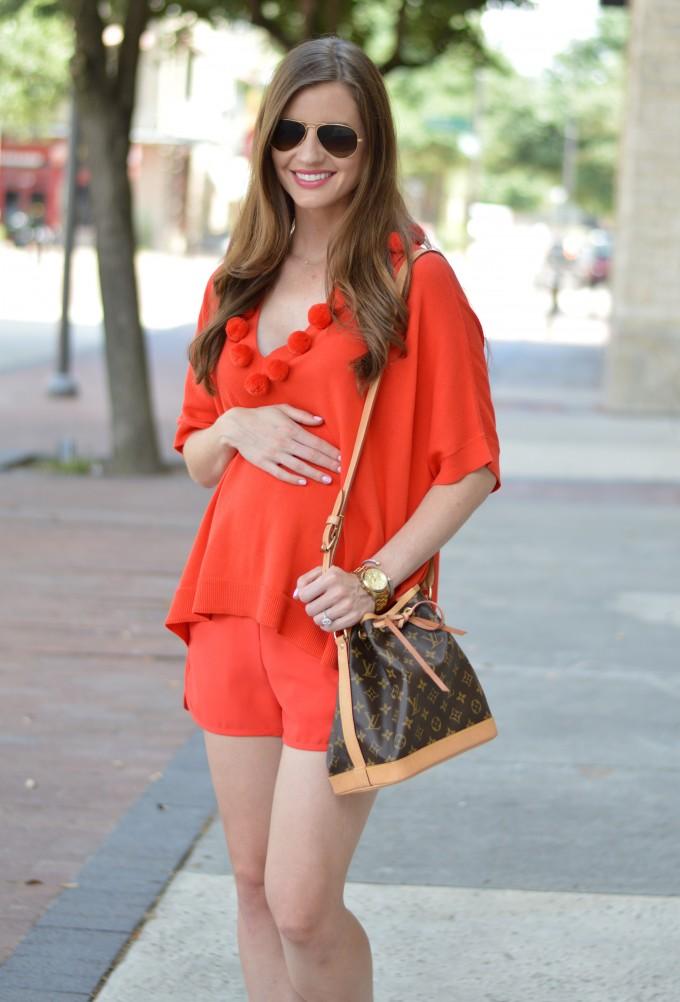 monochromatic look, Trina Turk, Louis Vuiton bag,
