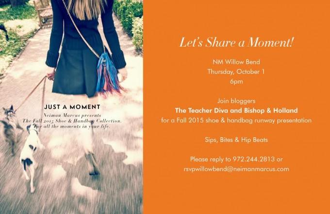 neiman marcues shoe and handbag event, you're inviteds, shoe and handbag trends, fall fashion