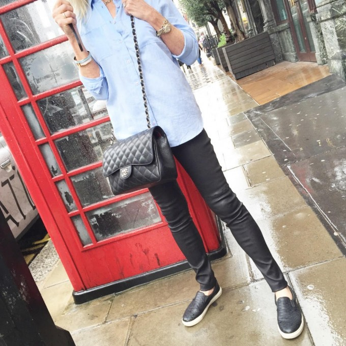 what to wear for a rainy day in London, casual travel wear