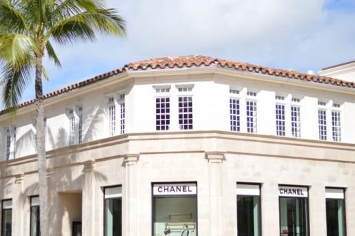 shopping on Worth avenue, luxury shopping in Palm Beach, Chanel in palm beach