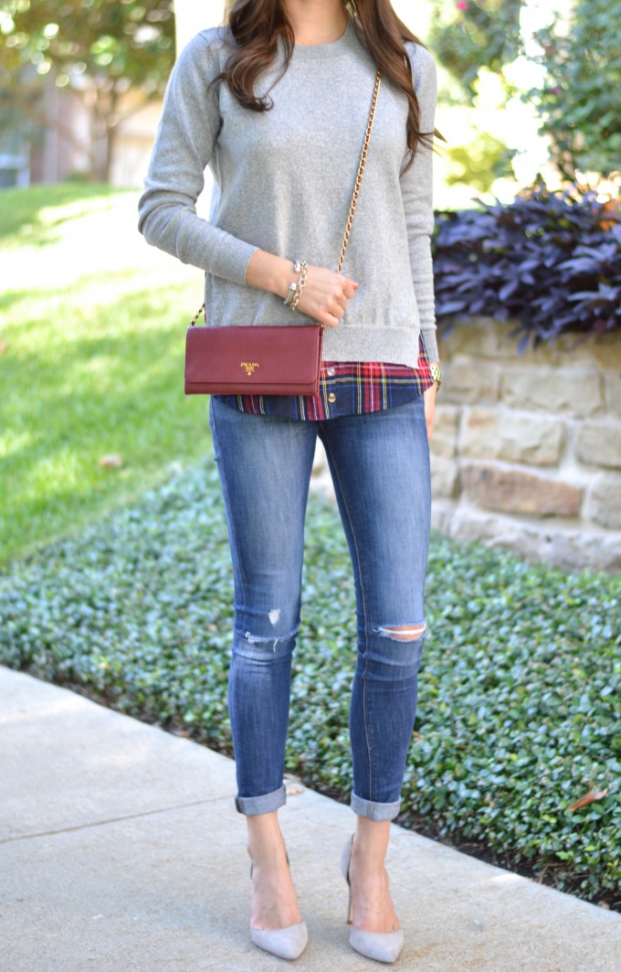 layered sweater, casual weekend look, how to wear a layered sweater