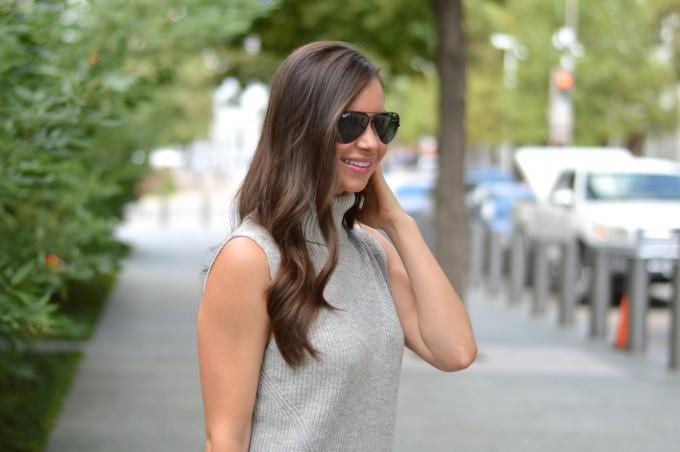 ray ban sunglasses, aviators, turtleneck sweater