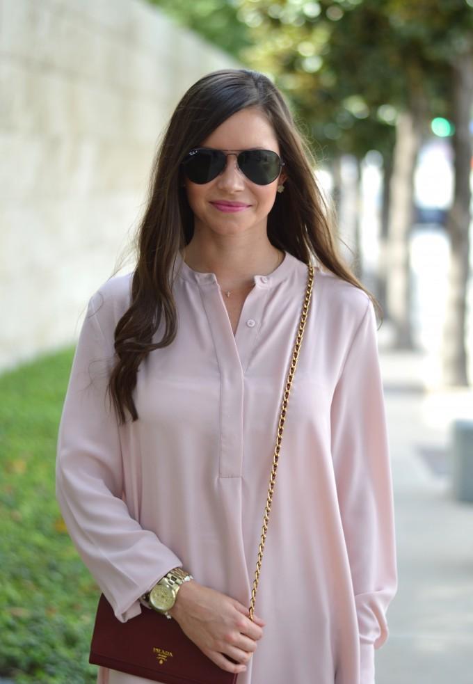 blush pink dress, blush pink for fall