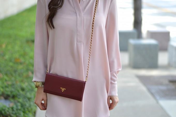 blush pink for fall, blush pink dress