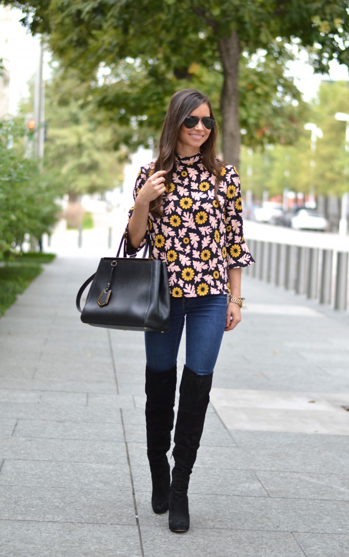 fall floral, floral for fall, bell sleeve top