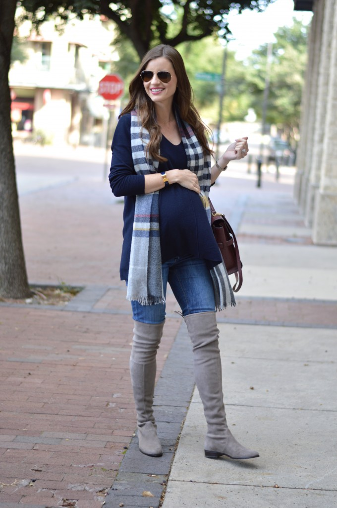 maternity style for fall, cute maternity sweater