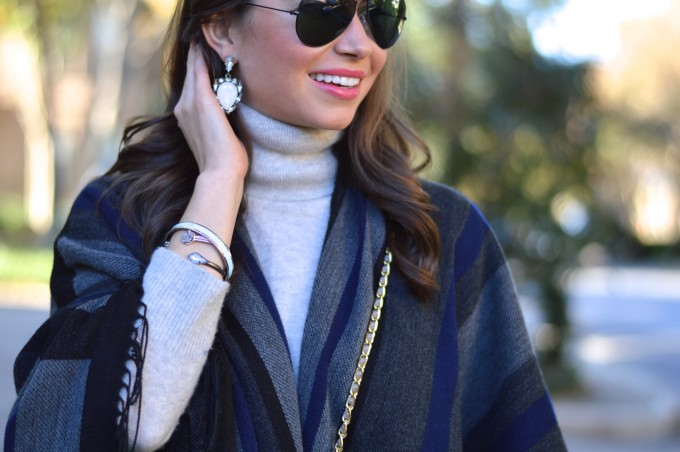 statement earrings. earrings to wear with a turtleneck, arm party for fall