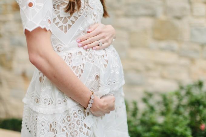 bump style, lace details, white lace dress