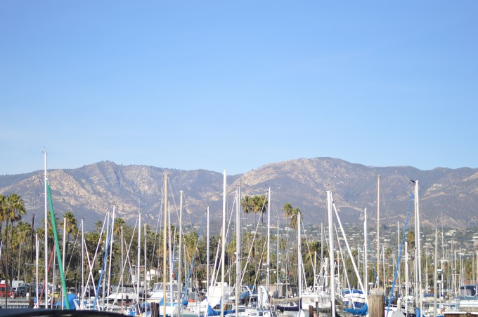 stearns wharf, view from the wharf in Santa barbara