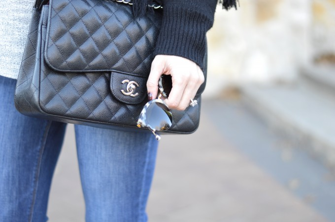 cat eye sunglasses, chanel handbag