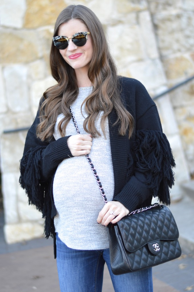 fringe sweater, bump style, cross body bag,