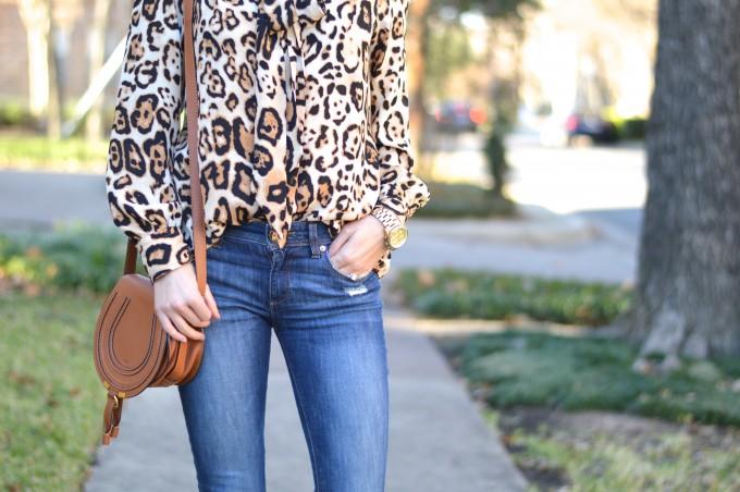 leopard print top, leopard print, chloe handbag, boyfriend watch