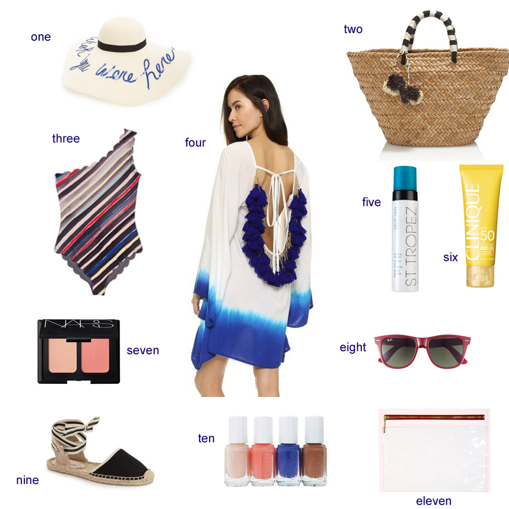 resort wear, what to pack for resort wear, beachwear, marysia one piece, soludos espadrilles, bishop and holland