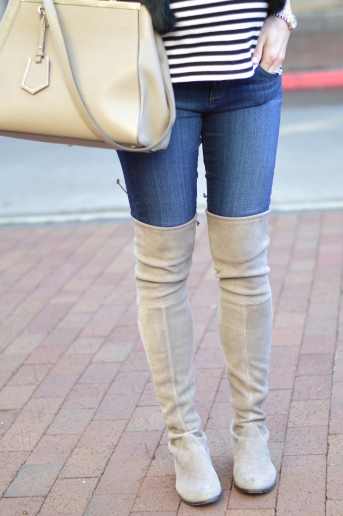 lowland over the knee boots, grey over the knee boots