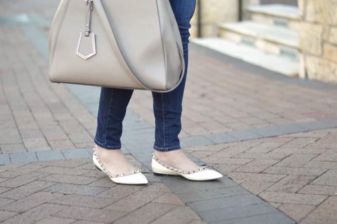 valentino rockstud flats, fendi 2jours handbag maternity jeans