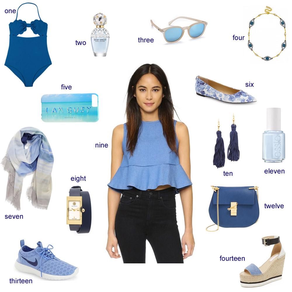 monday blues, shades of blue, marysia,
