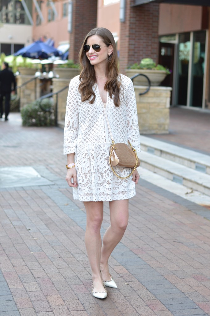 spring trends, lace for spring, white lace dress