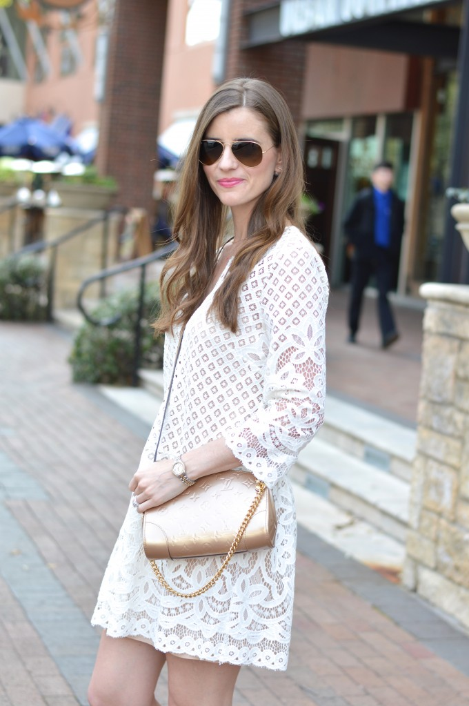 white lace dress, spring trends,
