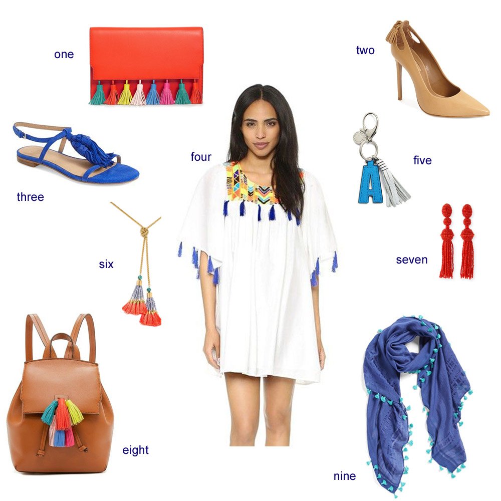 tassels, tassels for spring, rebecca minkoff tassel bags, colorful, what we want for spring