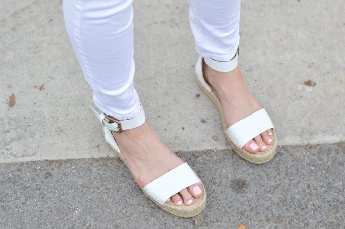 white platform espadrille sandals