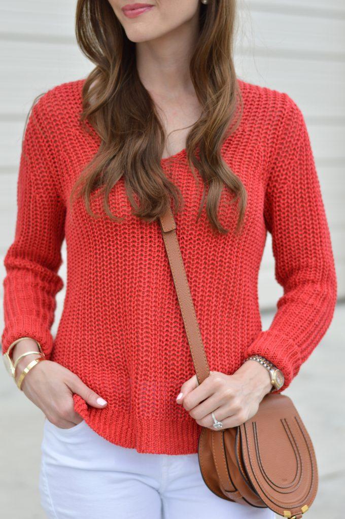 summer sweater, chloe cross body bag