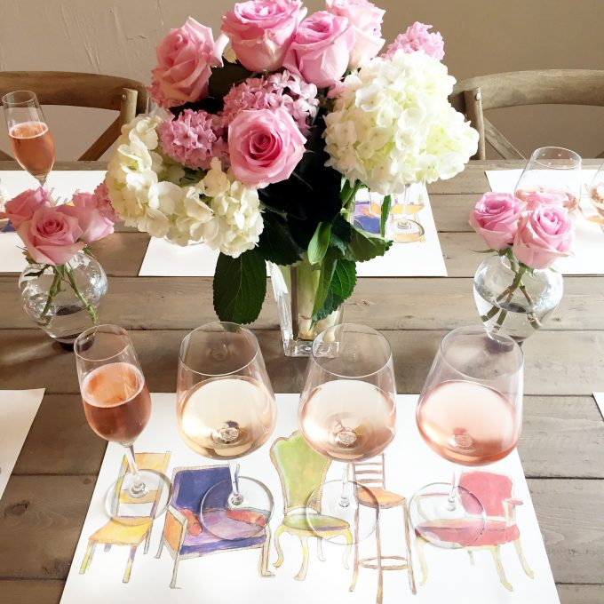 rosé wine tasting, how to style a wine tasting, how to host a wine tasting