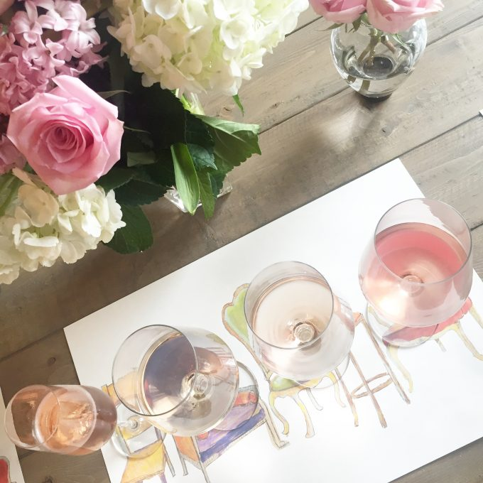 rosé wine tasting, rosé wine, party ideas,