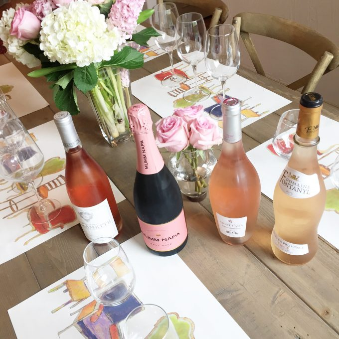rosé wine. rosé wine tasting, entertaining at home, mother's day gift ideas