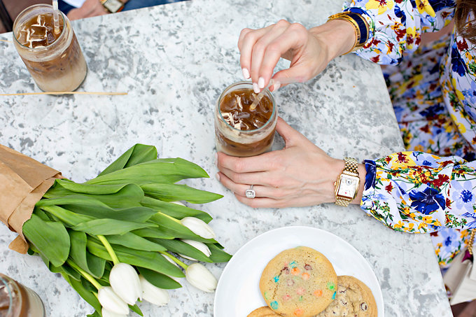 MICHELE watches, cookies and coffee